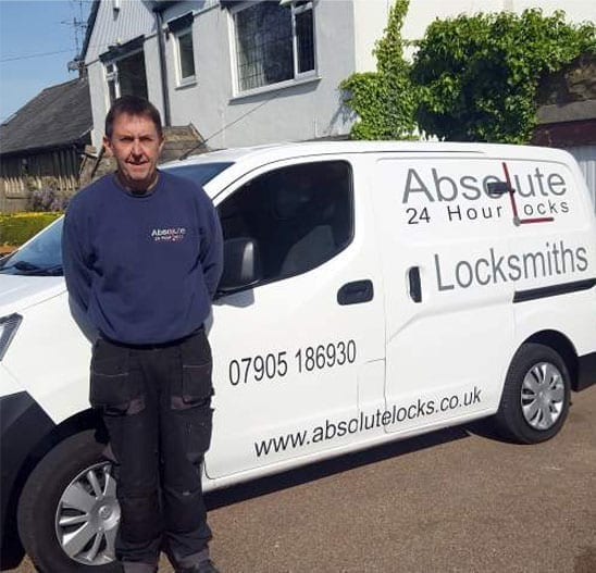 Emergency-Locksmiths-in-Baildon-Andy-Love-Locksmith-Baildon-in-Front-of-Locksmith-Van