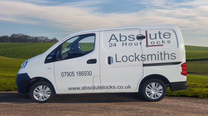 Locksmith-farsley-Liveried-Van-in-Country-setting- Absolute-Locks-Emergency-Locksmiths-in-farsley